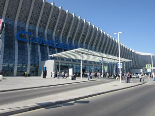 The new passenger terminal of airport Simferopol