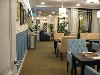 Kapitel restaurant in the VIP hall of the airport Domodedovo