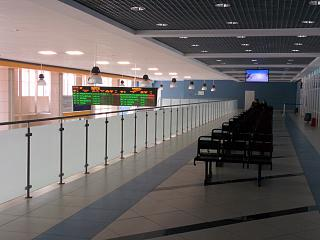 The waiting room at the airport of Syktyvkar