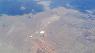 Airport of Lanai in the Hawaiian archipelago