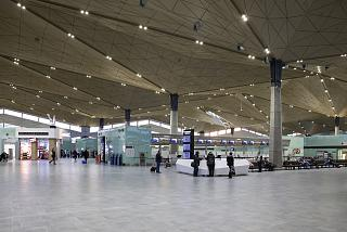 The departures area in the new terminal of airport Saint Petersburg Pulkovo