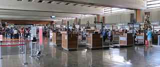 The check-in area at Honolulu international airport