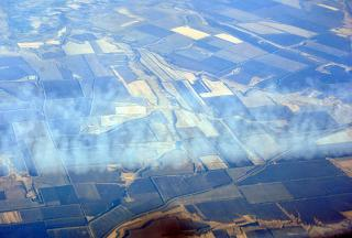 In flight over the Voronezh region of Russia