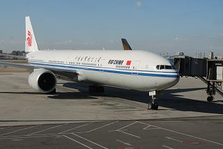 Boeing 777-300 Air China at Beijing airport
