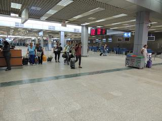 The check-in area for departing flights at terminal 2 of airport Hurghada