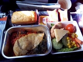 Hindu non-vegetarian (Hindu) meal on the Aeroflot flight to Omsk-Moscow
