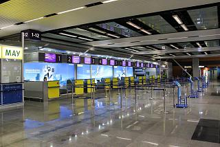 Reception Ukraine International airlines in terminal d of Kiev Borispol airport