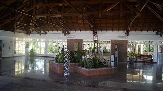 Arrival hall of the airport of Praslin