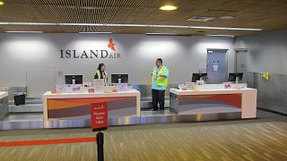 Reception of airline Island Air Honolulu airport