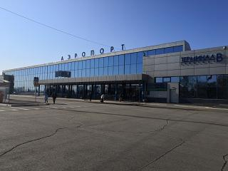 The terminal of domestic flights airport Omsk Tsentralny