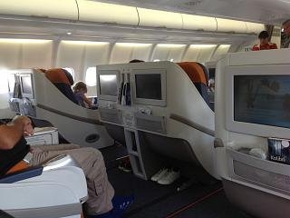 The business class in Airbus A330-300 Aeroflot