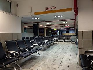 The waiting room at the airport of Eilat