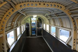 The cabin of the aircraft Junkers Ju 52 in the Museum of technology in Sinsheim