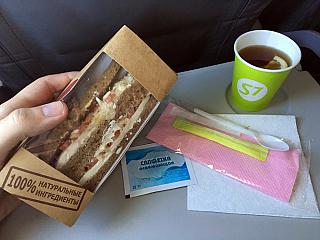 Питание на рейсе S7 Airlines Москва-Санкт-Петербург