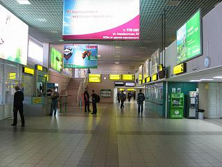 The arrival hall at the airport of Surgut