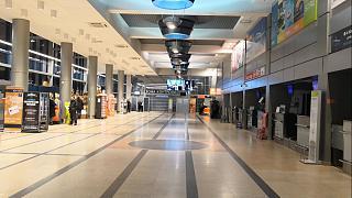 Общий зал в пассажирском терминале В аэропорта Омск Центральный