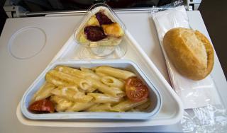 Питание на рейсе Москва-Вена авиакомпании Austrian
