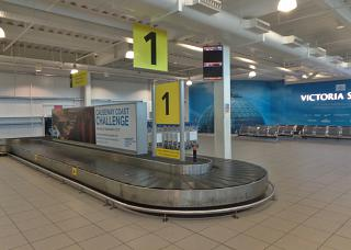 The baggage carousel at the airport Belfast city