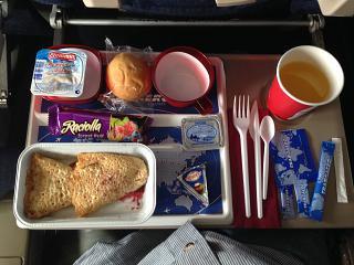 Завтрак на рейсе Москва - Пунта-Кана авиакомпании