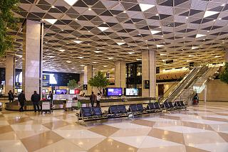 The baggage claim hall in terminal 1 of the airport of Baku