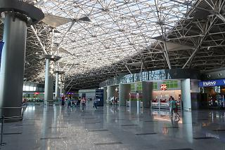 On the second floor of terminal A of Vnukovo airport