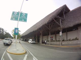The terminal of the airport of Punta Cana