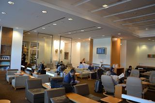 The lounge JAL at terminal 1 of Frankfurt airport