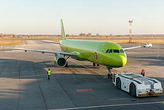 The Airbus A321-211 VP-BPC airline S7 Airlines at Tolmachevo airport