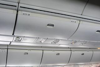 Luggage racks in the plane Boeing-767-200