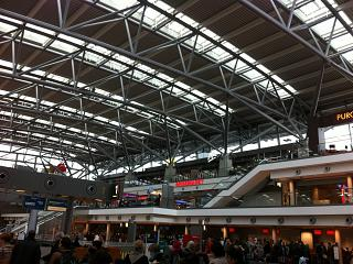 In terminal 1, Hamburg airport
