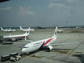 Boeing 737-800 Malaysia Airlines at the airport in Kuala Lumpur