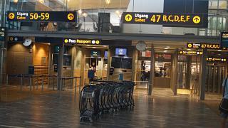 Passport control at Oslo airport Gardermoen