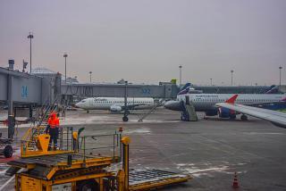 Перрон аэропорта Москва Шереметьево