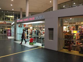 The duty-free shop at the airport Vilnius