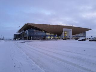 The new passenger terminal of the airport Perm, Bolshoye Savino