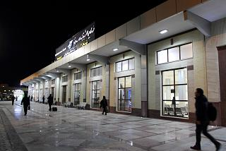 The terminal of the airport Yazd Shahid Sadughi from the forecourt