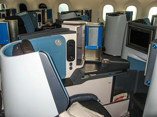 Passenger seat, business class on the Boeing-787-9 KLM