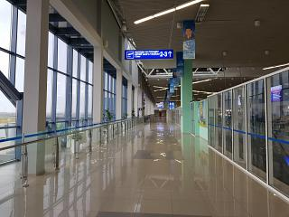 The transition to the boarding gates at the airport of Yakutsk
