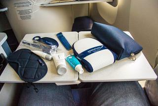 A set of passenger business-class Aeroflot flight Bangkok-Moscow