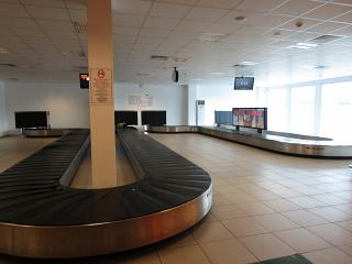 The baggage claim area at the airport to Gazipasa