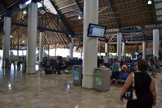 The waiting room in a clean area of the airport of Punta Cana