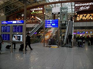 In terminal 2 of Frankfurt airport