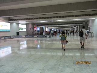 The baggage claim area at the airport of Manila