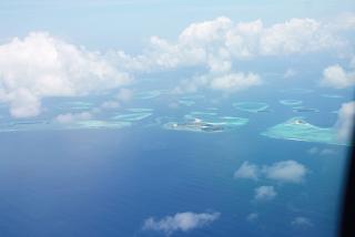 Atolls of the Maldives archipelago
