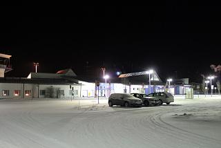 The landside area of the airport in Kajaani