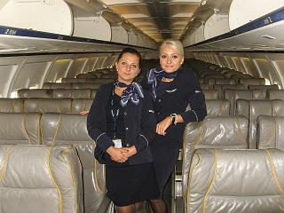 Flight attendants of the airline Bulgaria Air
