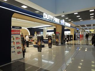 The Duty Free store in terminal E of airport Moscow Sheremetyevo
