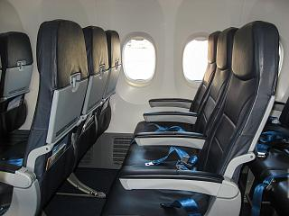 "The passenger seats on the Boeing-737-800 of airline ""Victory"""