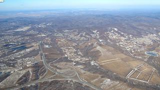 The surroundings of Vladivostok after takeoff from the airport Knevichi