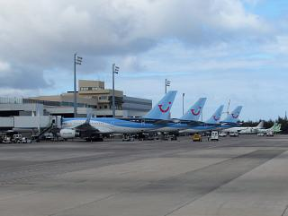 Planes at the gates of Gran Canaria airport